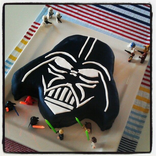 Yes my husband really does rock #darthvader #starwars #cake