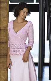 Free Knitting Pattern - Women's Cardigans: Croisette Wrap Around Cardigan