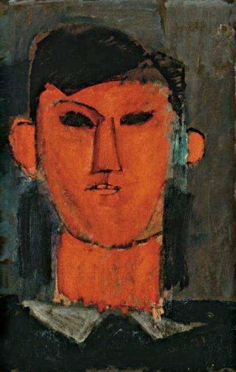 Amedeo Modigliani. Portrait of Picasso. 1915 Private Collection