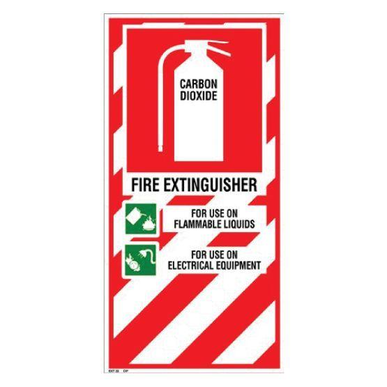 CO2 Extinguisher Sign