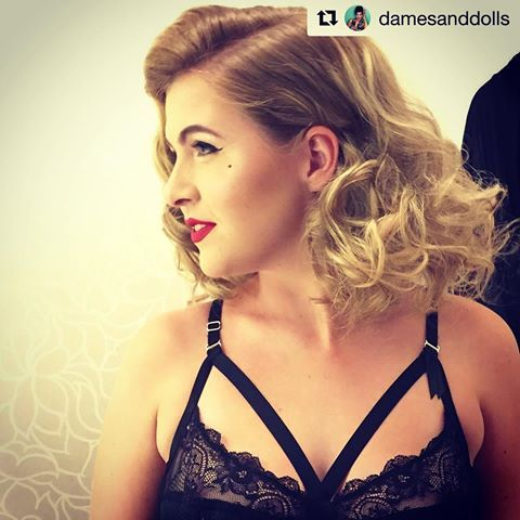 Seriously glam! #Repost @damesanddolls with @repostapp  ・・・  Hot Diggity Dolls! I was recently a part of a fabulous event hosted by @foreveryourslingerie where they got to be the very first Canadians to launch the @ditavonteeselingerie line! 😍😍This beauty was one of their many incredibly gorgeous models that rocked the runway that night. Hair by me ( inspired by @missrockabillyruby ) Makeup by @rusalka.beauty Model @kaleighalmond