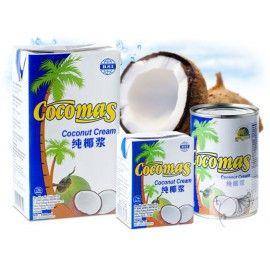 KOKOSOVÁ SMOTANA (krém) sa vyrába z kokosovej vody a z dužiny kokosového orecha. Veľmi dobre sa hodí ako na varenie tak aj na pečenie. Krém je vhodný aj na priamu konzumáciu, na prípravu dezertov, zákuskov, krémov ale tiež ako prísada do šejkov a kokteilov.  Z kokosovej smotany sa dá veľmi ľahko vyrobiť chutné bezlaktózové kokosové mlieko. Kokosový krém je ľahko stráviteľný s vysokým obsahom energie až 233kcal na 100ml. Cocomas kokosový krém neobsahuje žiadne prídavné ani konzervačné látky.