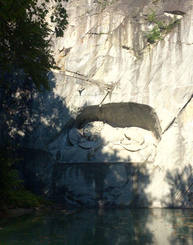 The Lion Monument, Lucerne, Switzerland