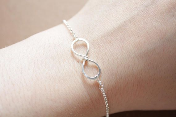 Infinity Bracelet Bridesmaid Gift Wedding Bracelet Sterling