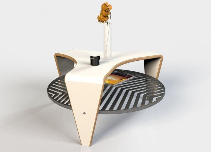 Dubai Tavolino Con Struttura Champagne Lucido E Piano I