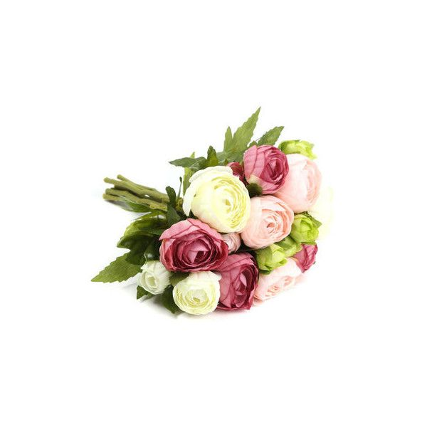 10 Heads Artificial Silk Flower Camellia Wedding Bouquet Party Home... ($8.26) ❤ liked on Polyvore featuring home, home decor, floral decor, white, fake flowers, artificial flower arrangement, artificial flower bouquets, white silk flowers and faux florals
