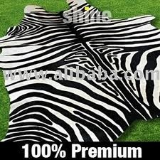 Zebra Print Cowhide Rug...currently on sale at ABC Carpet Outlet