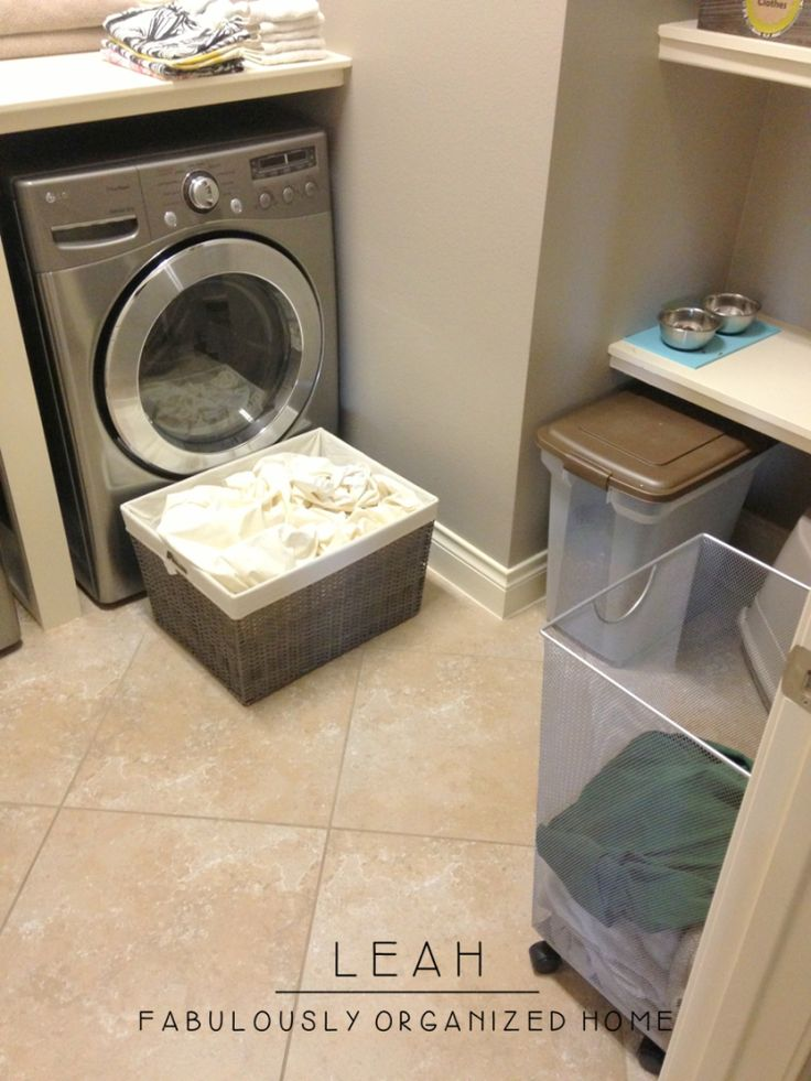 how I put together the wash + dry + fold station in our laundry room « Fabulously Organized Home