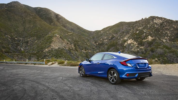 Curvy roads meet the revolutionary new curves of the 2016 Civic Coupe.