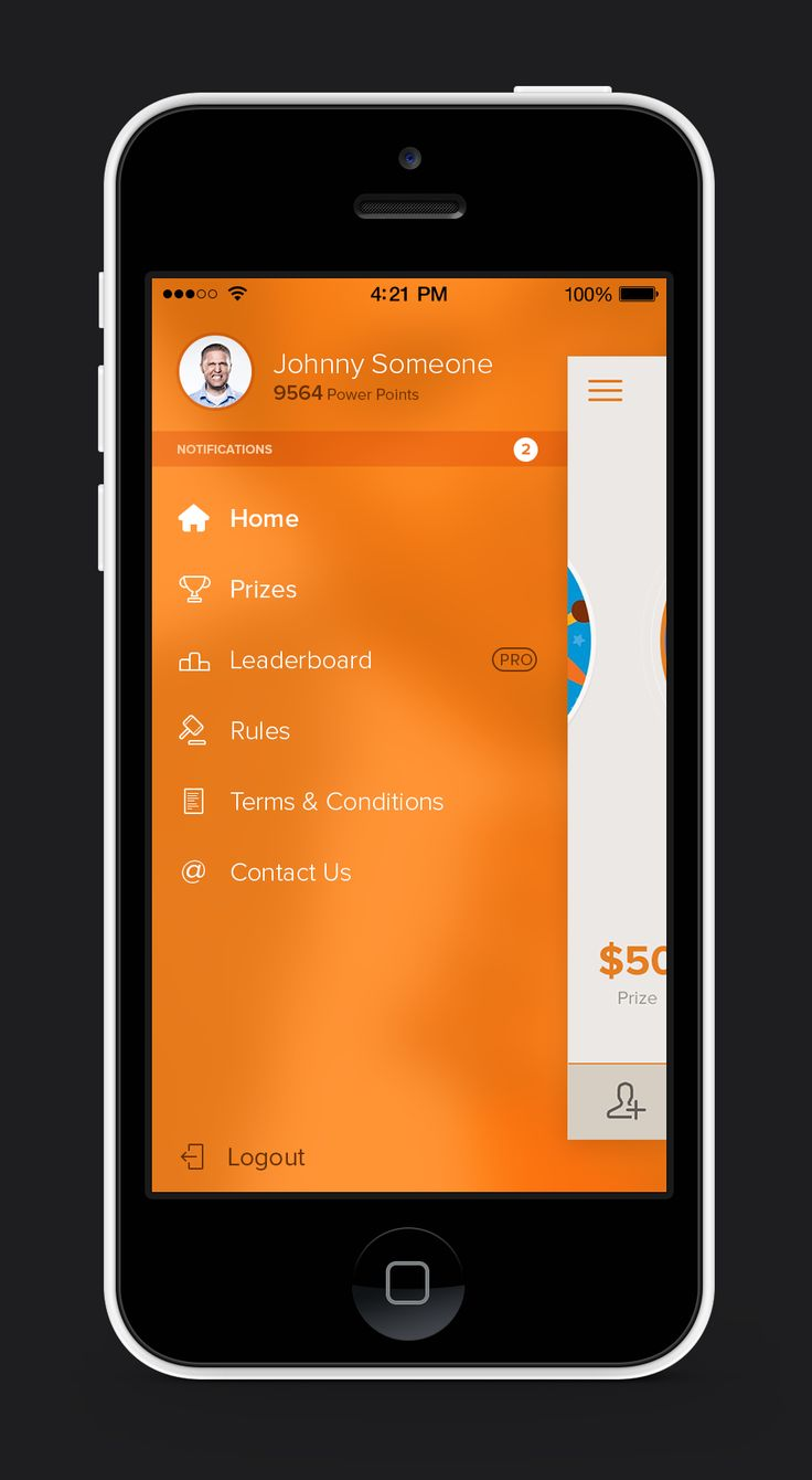 side navigation app #mobile #ui