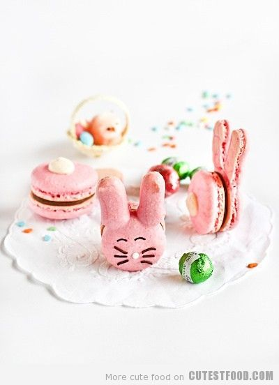 macaroons: Bunnies Macaroons, Sweet, Bunnies Macaron, Easter Recipe, Food, Easter Bunnies, Easter Treats, Easter Bunny, Easter Ideas