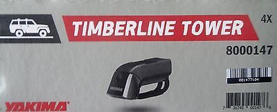Car and Truck Racks 177849: Yakima 8000147 Timberline Towers For Raised Railing Car Roof Racks Set Of 4 -> BUY IT NOW ONLY: $152.99 on eBay!