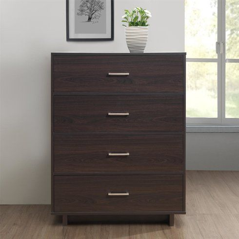 Ameriwood Home Colebrook 4 Drawer Dresser Rustic Medium Oak Brown