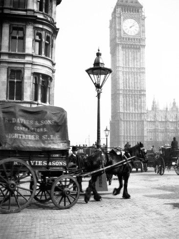 Big Ben, London... c. 1900.....R.Davies & Son, Little Nightrider Street, London..Wonderful Image..
