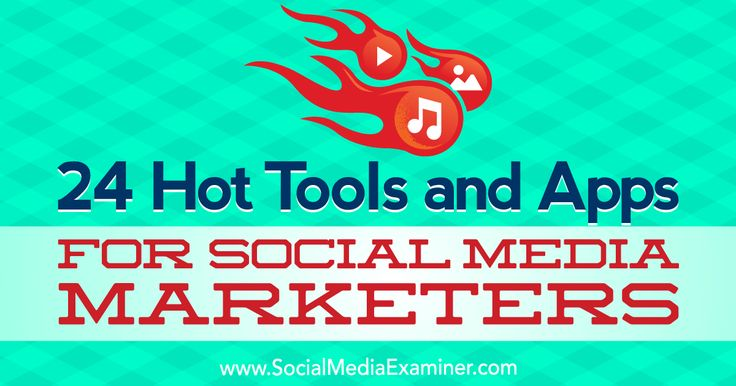 24 Hot Tools and Apps for Social Media Marketers    Want to try some new social media marketing tools? Wondering which apps can enhance your social media audio, video, and images? In this article, you'll discover 24 useful social media tools. #1: Nar   http://www.socialmediaexaminer.com/tools-apps-social-media-marketers-24/