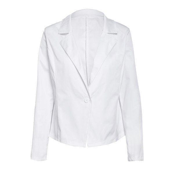 Formal Long Sleeve Lapel One Button Design Women's White Blazer #men, #hats, #watches, #belts, #fashion, #style