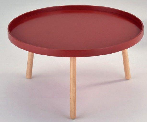 Solo 1 sohvapöytä punainen/luonnonväri