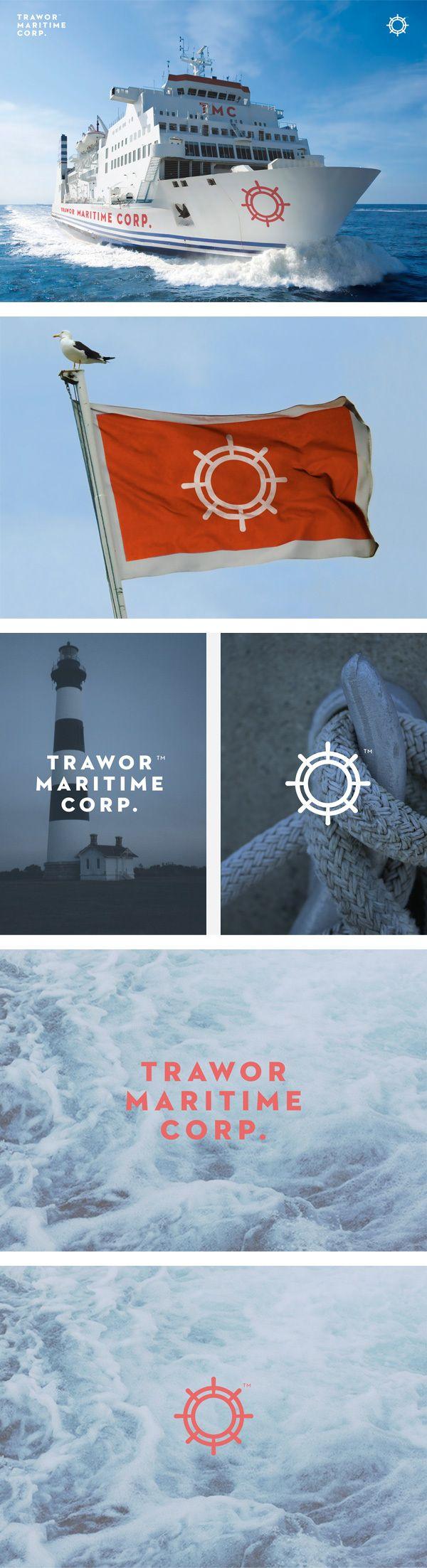 Trawor Maritime Corp. Identity. | #corporate #branding #creative #logo #personalized #identity #design #corporatedesign < repinned by www.BlickeDeeler.de | Visit our website www.blickedeeler.de/leistungen/corporate-design/logo-gestaltung