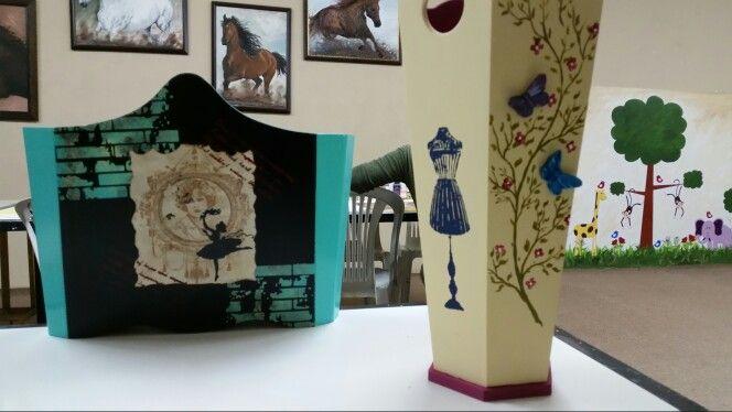 Ahşap gazetelik ve şemsiyelik  Wooden paint