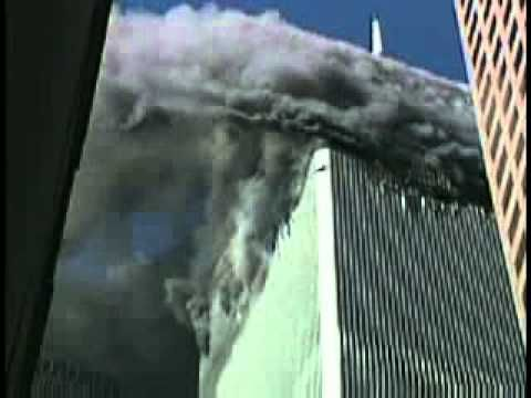 New Video Of First Plane Hit 911 9/11 9 11 terrorist attack on Twin Towers Word Trade Center - YouTube