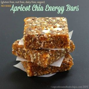 No-Bake Apricot Chia Energy Bars