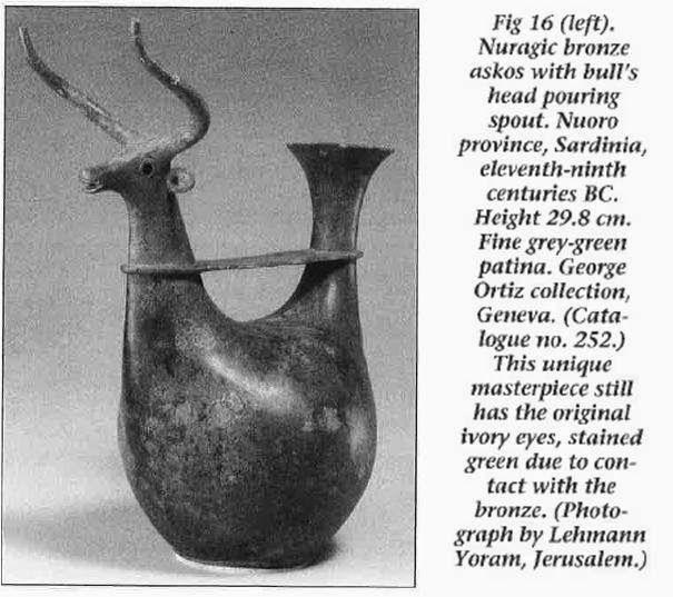 L'art des Italiques: de -3000 à -300 avant J-C., une exposition majeure à Paris, dans: MINERVA, mars / avril 1994, pp. 4-12. Notez qu'en fait, le spécimen n'est pas unique: un modèle similaire trouvé au village Nuragique d'Oliena, est exposé au musée Nuoro, Sardaigne, Italie