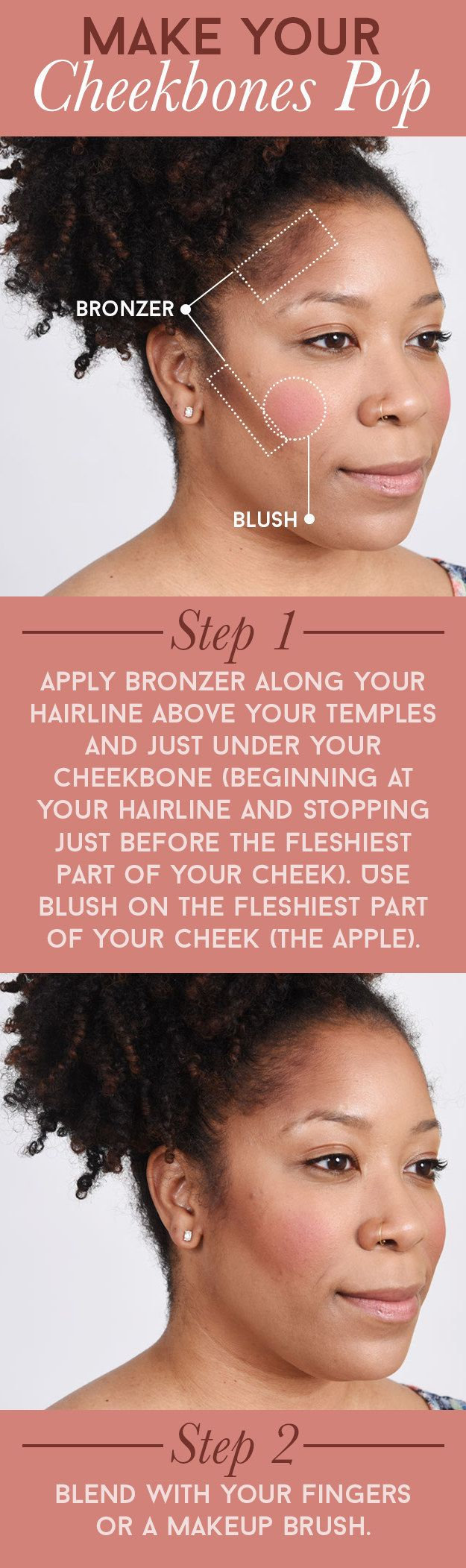 25 unique bronzer tutorial ideas on pinterest face contouring heres how to emphasize your cheekbones ccuart Images