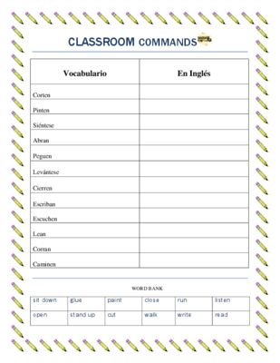 Spanish Classroom Commands- Play Simon Says in Spanish- Simon Dice from La Señora H on TeachersNotebook.com -  (3 pages)  - This worksheet set is extremely useful to teach students in Middle School and High school Classroom Commands. The vocabulary list with 12 commands and work bank will allow students to create skits.