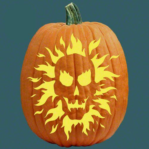An old flame skeleton pumpkin for Skeleton pumpkin design