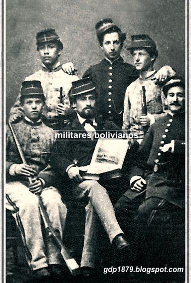 Militares bolivianos durante la Guerra del Pacífico.