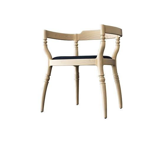 Paul Loebach Fuga Armchair   Stylishly Turned Design Armchair In Solid  Beech, Seat Upholstered In Fabric Or Leather.