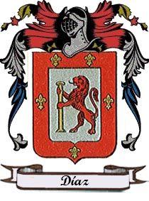 Castresana de Losa - El Apellido Díaz: escudo y significado