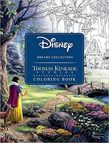 Disney Dreams Collection Thomas Kinkade Studios Coloring Book: Amazon.co.uk: Thomas Kinkade: 0050837360075: Books