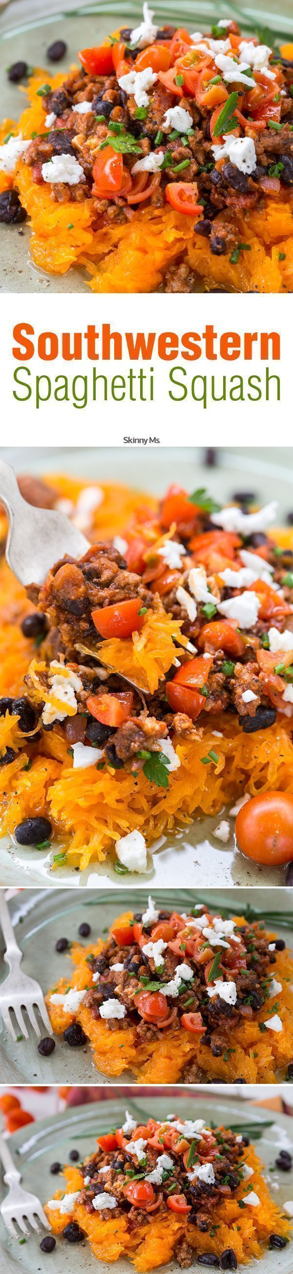 Southwestern Spaghetti Squash is a delicious way to cut carbs and still feel satiated!