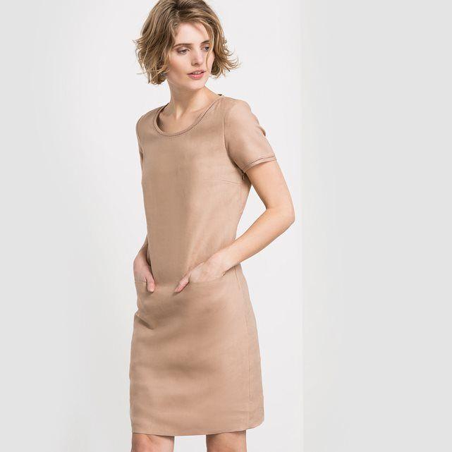 Lniana sukienka z krótkim rękawem - LAURA CLEMENT LAURA CLEMENT