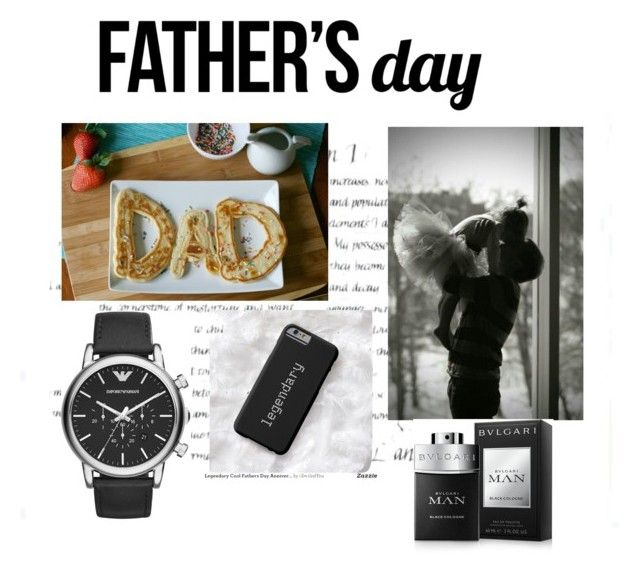 """ideal for my father"" by jana40299 ❤ liked on Polyvore featuring Emporio Armani, Bulgari, men's fashion, menswear and fathersdaygiftguide"