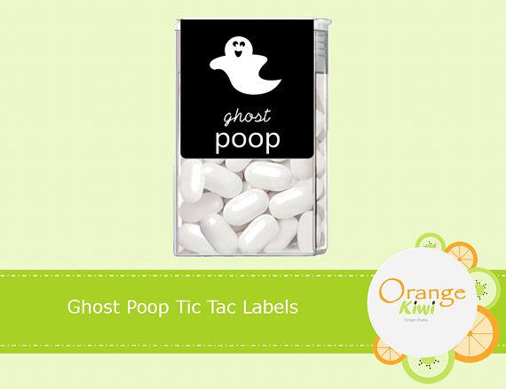 Ghost Poop Tic Tac Labels Halloween Tic Tac Labels Happy