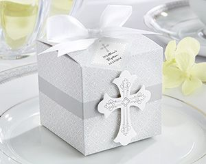 Cross First Communion favor box