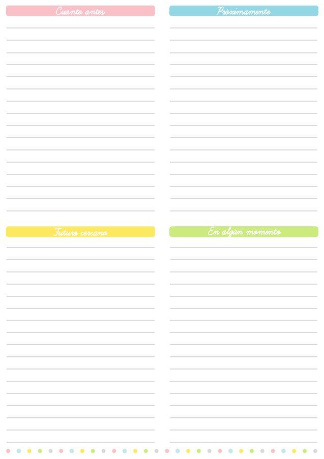 Mejores 53 imágenes de agenda personal en Pinterest | Imprimibles ...
