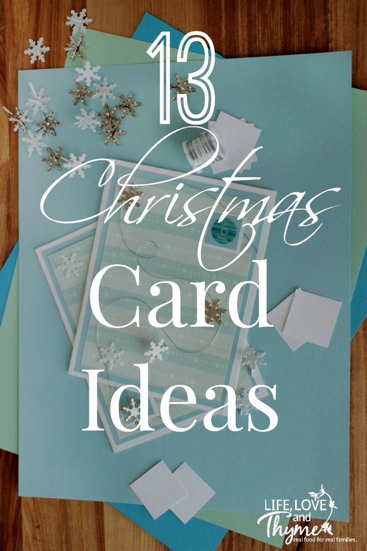 13 Handmade Christmas Cards - The Christmas card ideas will help add a little love to all your holiday cards.