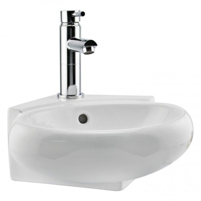 Oscar Porcelain Wall-Mount Corner Sink - Wall Mount Sinks - Bathroom Sinks…