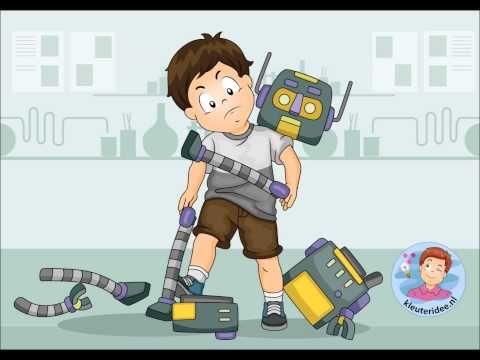 Liedje YouTube: Een robot - Thema Raar, maar waar! Kinderboekenweek 2015, kleuteridee