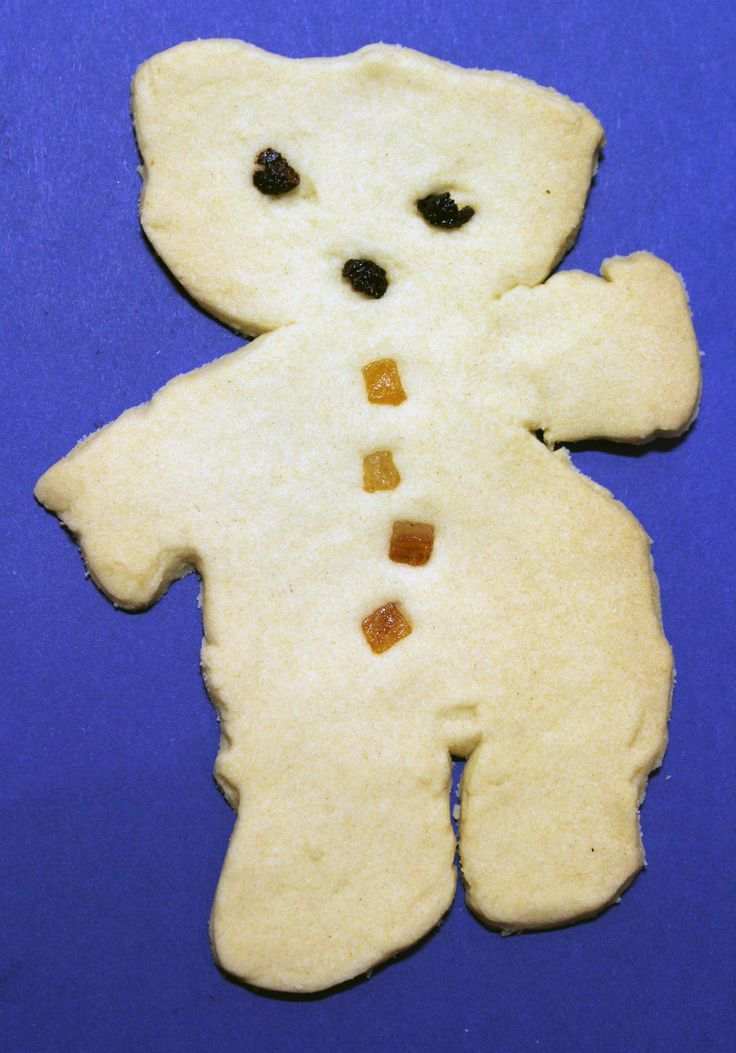 Alan Measles biscuit (Grayson Perry's teddy). Part of the biscuits I have been making for the contemporary selection box.