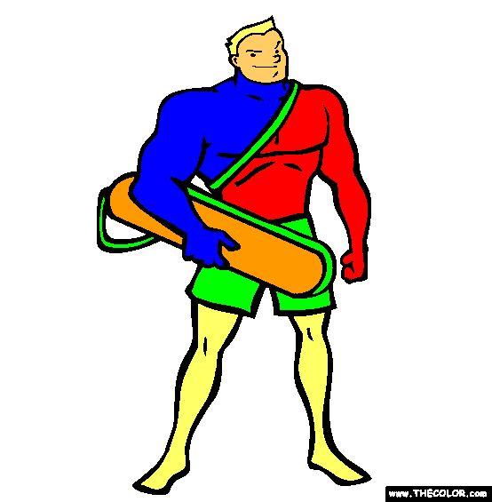 lifeguard coloring page