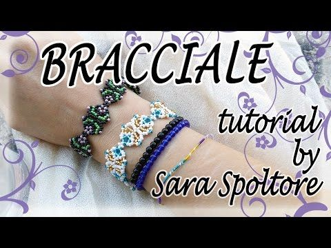 Tutorial perline - Come fare un fiore con perline - Come fare collana bracciale facili fai da te - YouTube
