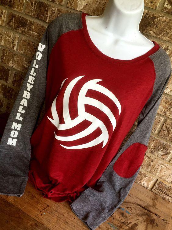 Voleibol cordones t-shirt camisa de la mamá de por MamaGlitter