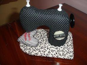 ARTE COM QUIANE - Paps, Moldes, E.V.A, Feltro e Costuras: alfineteiro Maquina de costura