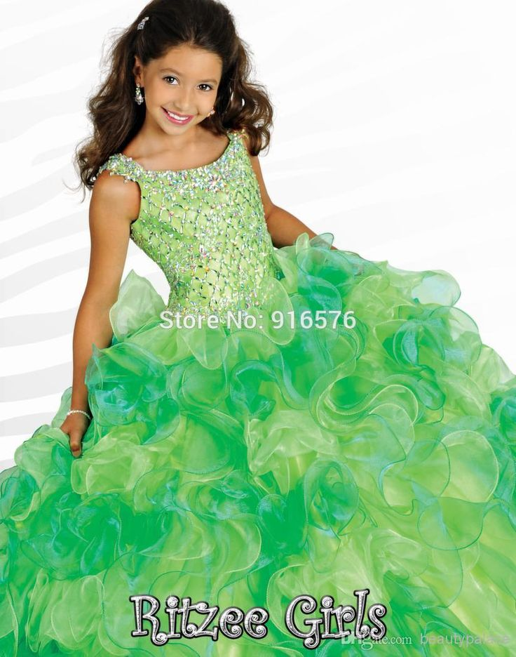 Green Pageant Girl Dress Elegant Dress For Girls Pink Aqua Ruffled First Communion Dresses 2014 Corset Back Rhinestones-in Flower Girl Dresses from Weddings & Events on Aliexpress.com | Alibaba Group