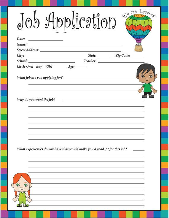The  Best Classroom Job Application Ideas On   School