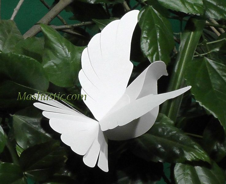 DIY paper dove with a printable template | Mashustic.com